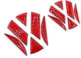 Finest-Folia 3D Emblema Gel Pegatinas Delantera + Trasera