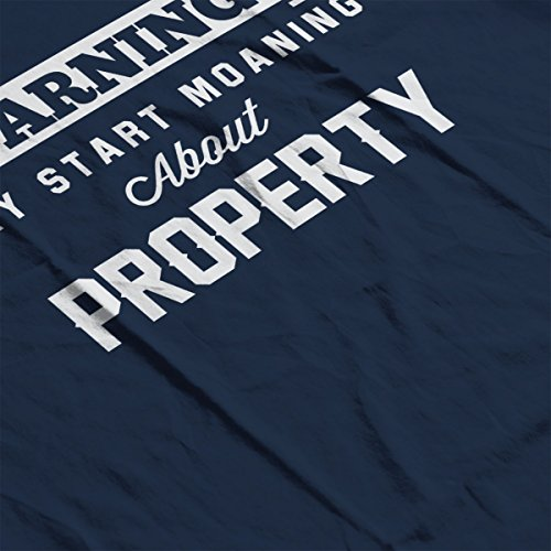 Warning May Start Moaning About Property Men's Hooded Sweatshirt Navy blue