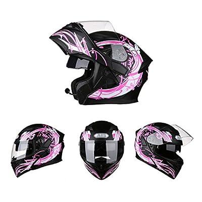 YRTK Helmets Men And Women Motorcycles Sunscreen Flip-Up Helmets Full-Face Helmets Cover With Bluetooth Four Seasons Locomotive from YRTK