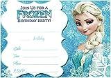 12inviti di compleanno con buste coordinate a tema Lego, Cattivissimo me, Minions, Disney, Frozen (testo in inglese) Elsa Olaf