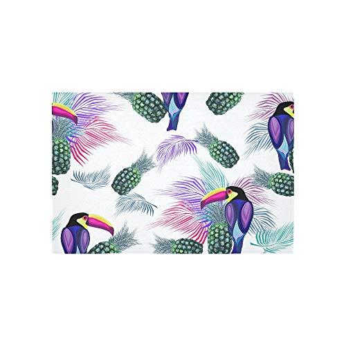 EIJODNL Tapisserie Tropische Ananas Vogel Papagei Palm Blätter Wandteppiche Wandbehang Blume psychedelischen Wandbehang Wandbehang indischen Wohnheim Dekor für Wohnzimmer Schlafzimmer 60 x 40 Zoll