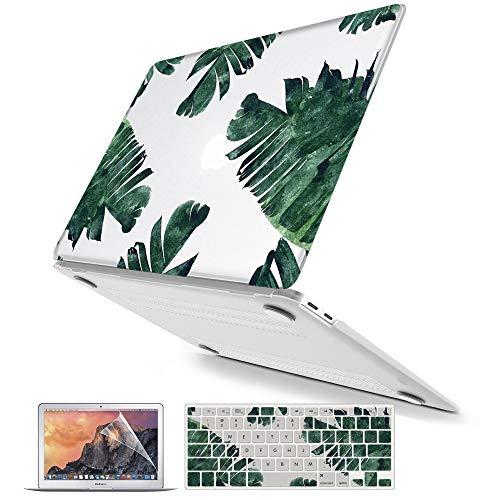 Belk MacBook Air 13 Zoll 2018 Hülle A1932, 3 in 1 Bling Crystal Glattes Palmblatt Ultraflacher Kunststoff-Hard-Case Shell mit Tastatur-Abdeckung für MacBook Air 13 mit Retina & Touch ID