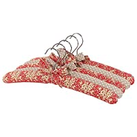 Neoviva Cotton Floral Coat Hanger Set with Mixed Colors, Pack of 5