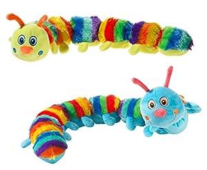Heunec 444775-Ciempiés de peluche arco iris sus L, Colores surtidos