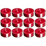 BDS Creation 14081 Scented SHOKELESS RED Tea Light Candles Pack Of 120PCS