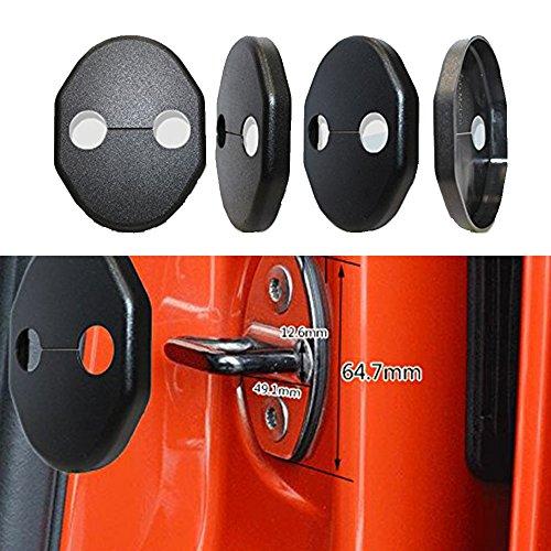 muchkey Auto Tür Schloss Schutzhülle Korrosionsschutz-Lock Deckel Passform für Mazda CX-52012–2016Mazda 62006–2012Mazda 3(2011–2013) für Mazda 25CX-7MX7Mitsubishi Lancer Galant 1Set = 4Teile