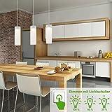 Briloner Leuchten Dimmbare LED Pendelleuchte, Deckenleuchte Wohnzimmer, 3 x 400 Lm, Metall, Integriert, 5 W, Chrom, 120 x 70 x 120 cm