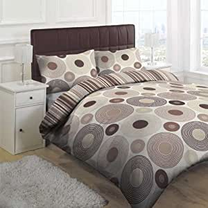 parure housse de couette orbital cercles beige. Black Bedroom Furniture Sets. Home Design Ideas