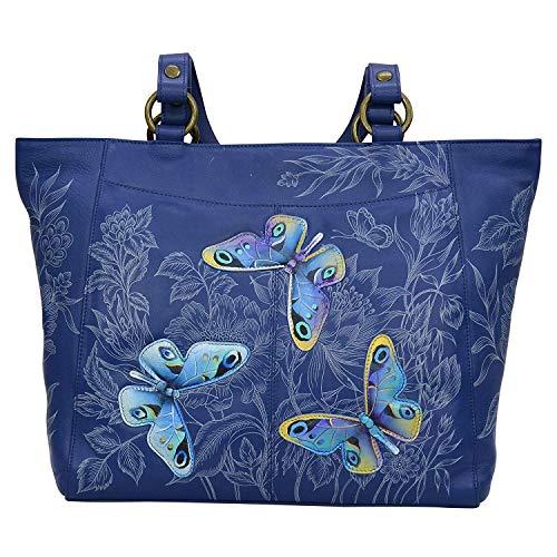 Anuschka Damen Handtasche aus echtem Leder, klassisch, handbemalt im Außenbereich, Garden of Delights (Handtaschen Anuschka Leder)