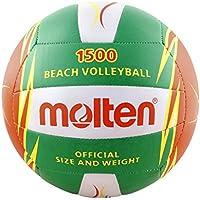 MOLTEN V5B1500 - Balón de voleibol, color verde, tamaño 5, Multicolor