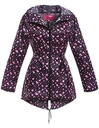 SS7 Women's Showerproof Raincoat, Pink Heart, Sizes 8 to 22