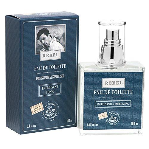Eau de Toilette - Rebel Aftershave for Men - Strong French Fragrance - 100ml Bottle - Maison du Savon de Marseille