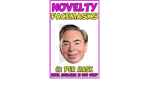 Andrew Lloyd Webber Celebrity Mask Card Face and Fancy Dress Mask