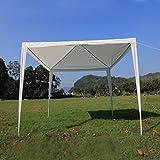 SavingPlus, tenda da esterni in polietilene impermeabile, da usare come gazebo da giardino o stand espositivo, per feste e matrimoni, 3 x 3 m, White