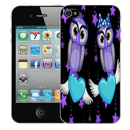 Nouveau iPhone 5s clip on Dur Coque couverture case cover Pare-chocs - rouge cupid heart Motif avec Stylet purple lovebird owls