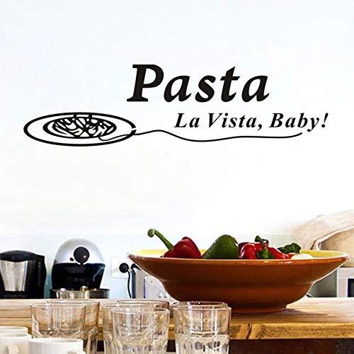 Chellonm Zitate Pasta La Vista Baby Wandaufkleber Abziehbilder Esszimmer Poster Vinyl Kunst Aufkleber Pvc Wohnkultur Küche Dekorationen 152 * 41 Cm