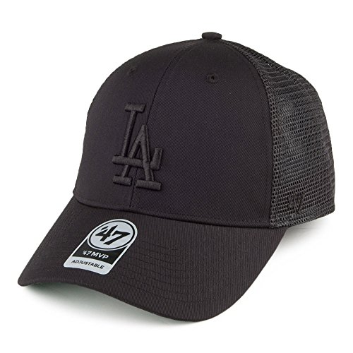 '47 Brand L.A. Dodgers Branson MVP Trucker Cap - Black On Black