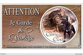 Panneau chien ou plaque Cane-Corso-01 30 cm