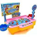YEWJ Juguetes de la pesca de los niños, juguetes educativos de los niños, juego de la pesca del juguete juguete ( Color : Pink )