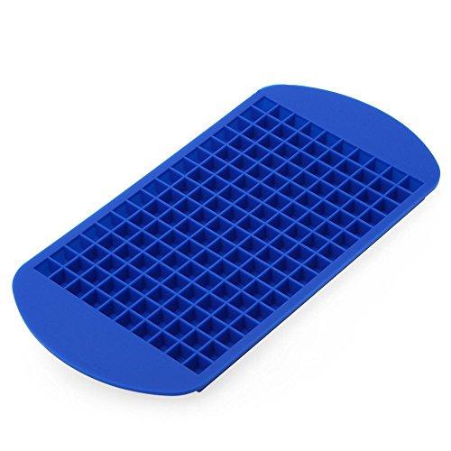 Silikon Eiswürfelform von Ms. Hot & Mr. Cool - flexible Silikonform für 160 Mini-Eiswürfel - Eiswürfelschale in 4 Farben