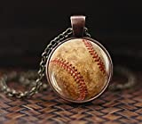 Baseball Anhänger, Baseball Halskette, Baseball Sport Jewelry, Herren Halskette, Baseball Player, Team Mom Baseball Geschenk, Baseball Fan Geschenk