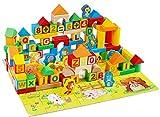 Kinder pädagogisches Spielzeug Holzblöcke Bausteine +48 100 Tierkreisthema Bodenfolie