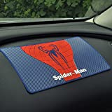 UniqOutlet Spider-man Anti Skid Car Dashboard Rubber Mat for Mobile Phone | Mobile Holder | Colour: Blue
