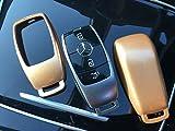 Protex New Hochwertigen Schutzhülle Schutzhülle für 3/4BUTTON Smart Intelligente Schlüsselanhänger Fernbedienung 20172018Mercedes-Benz Modell C-Class AMG E-Klasse S-Klasse CLA GLA Hybrid-(Gold)