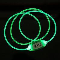 BigFamily Correa de Collar Luminosa Teddy Ring Escote Ajustable Luz de la Moda LED para Big Dog de tamaño pequeño y Mediano