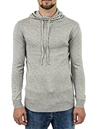 pull hiver guess jeans u74r06 funnel gris
