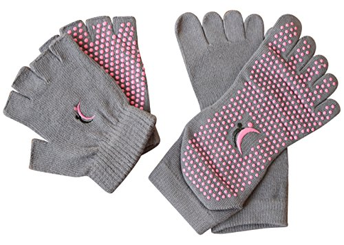 Yoga Pilates chaussettes et gants de coton, antidérapant Chaussettes Orteils, 90 jours remboursé garantie par koyto Sport