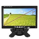 Yatek Monitor/Pantalla LCD Quad 4 Entradas de vídeo, TFT 7' para cámaras de visión Trasera, maquinaria Industrial, Camiones, Tractores
