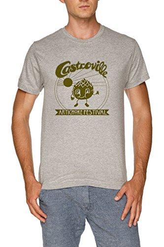 The original castroville artichoke festival - dustins shirt in stranger things! maglietta t-shirt grigio uomo dimensioni l | men's grey t-shirt size l