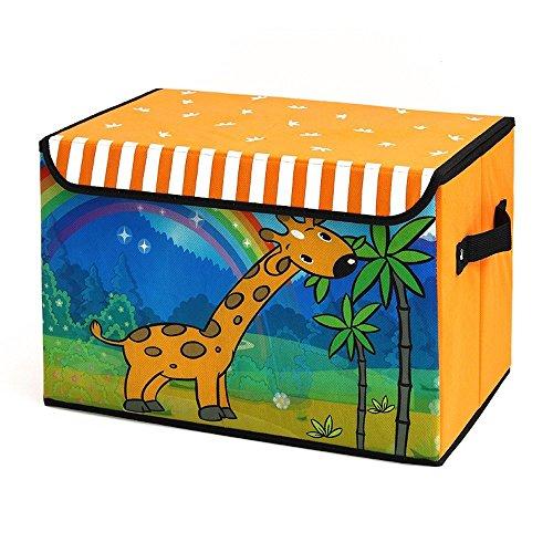 Dazonyang Cajas de Almacenamiento Cartoon Infantil Plegables Hogar Decorativo (Jirafa)