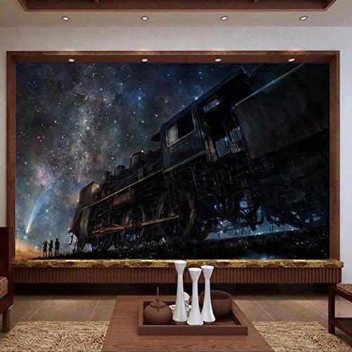 ividuelle Fototapete Kinderzimmer Wandbild Zug Traum Märchen 3D-Malerei Sofa Tv Hintergrundbild Für 3D-Wand-450Cmx300Cm (Märchen-zug)