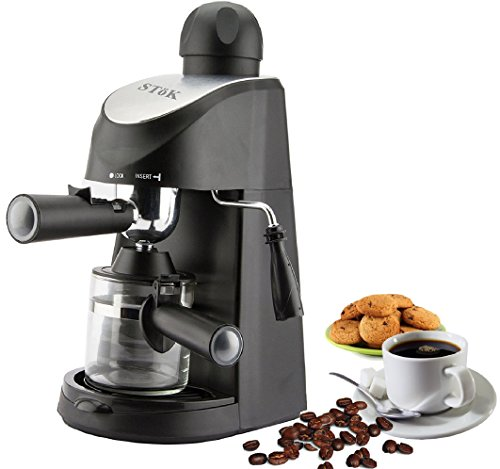 SToK® ST-ECM01 - 800 Watt - Espresso Coffee Maker - 4 Cups (240 ml) Espresso Coffee Machine-...