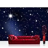 Vlies Fototapete 400x280 cm PREMIUM PLUS Wand Foto Tapete Wand Bild Vliestapete - A MILLION STARS - Sternenhimmel Stars Sterne Leuchtsterne Nachthimmel - no. 028