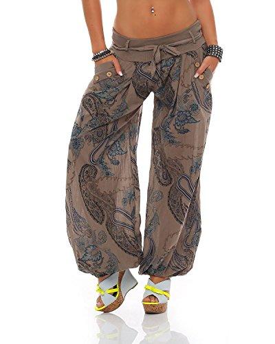 ZARMEXX dames bloomers pantalon sarouel été Pluder Aladin pantalons de plage ornement pantalon imprimé de coto
