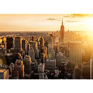 Poster New York Empire State Building, 84x59 Kunstdruck von mldigitaldesign