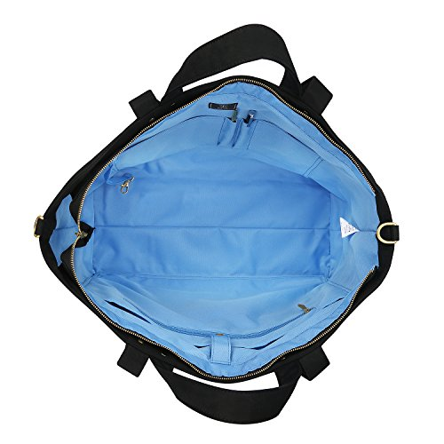 7f2d23025020 BONTHEE Canvas Tote Bag Handbag Women Large Shopper Shoulder Bag for School  Travel Work - Luggage and Travel Accessories