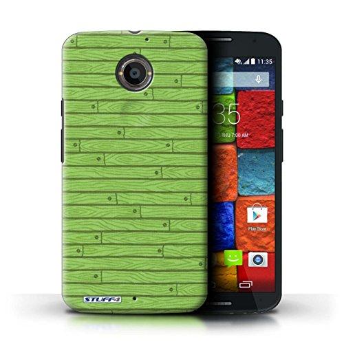 Kobalt® Imprimé Etui / Coque pour Motorola Moto X (2014) / Beige conception / Série Motif Bois Vert