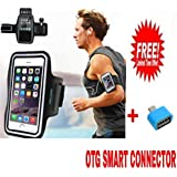 GREENWORLD | Sports Armband | Sports Arm Belt | Mobile Case For Running Jogging Sports & Gym Activities With OTG Smart Connector Free.
