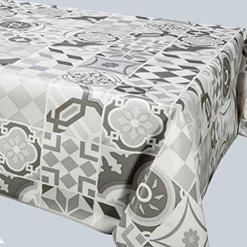 Nappe - Toile cirée - Carrée - 180 x 180 cm - Carreaux ciment