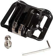 Generic Universal Waist Belt Buckle Button Holster Mount Clip for DSLR Camera Black