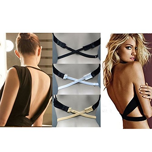 BH-Verlängerer BH YUMUN® Verlängerung Erweiterung Rückenfrei Rückenkonverter 3 Stück (schwarz+ weiß+Aprikose)