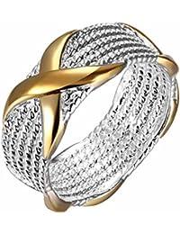 Mes-Bijoux-Bracelets Bague Anneaux Multiples Doré Or Jaune 750 000 18ct  Cadeau fc59c25aedfd