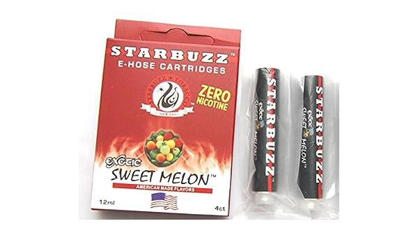STARBUZZ E-HOSE - Genuine 4 Cartridges for E-Hoze flavor Shisha Hookah  Shisha Pipe-E Water Electronics - NO NICOTINE NO TOBACCO - Quantity huge  vapor!
