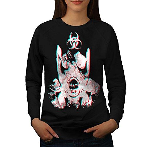 Radiation Crâne Horreur Femme S-2XL Sweat-shirt   Wellcoda Noir