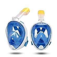 LYX- Gafas Y Máscaras Máscara De Buceo Infantil, Equipo Panorámico De Buceo Para Adultos