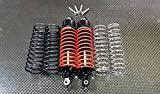 G.P.M. Traxxas Slash 4X4 / Stampede 4X4 / Rustler VXL / Craniac / NOS Deegan Rally / Bandit Tuning Teile Aluminium Rear Adjustable Spring Damper with Aluminium Ball Top & Ball Ends - 1Pr Set Black